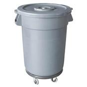 TRASH CAN, 32 GALLON, PLASTICS, GREY