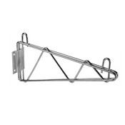 "18"" DIRECT WALL BRACKET, SINGLE SHELF SUPPORT, CHROME"