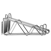 "18"" DIRECT WALL BRACKET, DOUBLE SHELF SUPPORT, CHROME"