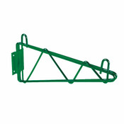"24"" DIRECT WALL BRACKET, SINGLE SHELF SUPPORT, GREEN EPOXY"