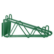 "24"" DIRECT WALL BRACKET, DOUBLE SHELF SUPPORT, GREEN EPOXY"