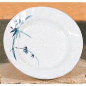 """10 1/2"""" CURVED RIM PLATE, BLUE BAMBOO"""