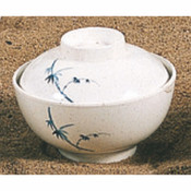 """10 OZ, 4 1/2"""" SPECIAL BOWL W/ LID, BLUE BAMBOO"""