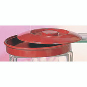 "8 1/4"" TORTILLA/DEEP DIVIDED SERVER (S) LID ONLY, RED"