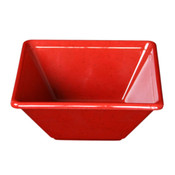 "11 OZ, 4 3/4"" x 4 3/4"" SQUARE BOWL, 2"" DEEP, PASSION RED"