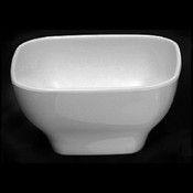 "14 OZ, 4 3/4 X 4 3/4"" ROUND SQUARE BOWL, 2 1/2"" DEEP, PASSION WHITE"