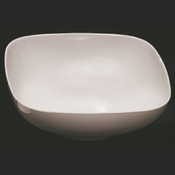 "128 OZ, 11"" X 11"" ROUND SQUARE BOWL,  3 1/2"" DEEP, PASSION WHITE"