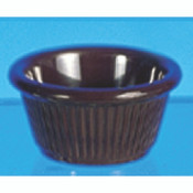 "2 OZ, 2 7/8"" FLUTED RAMEKIN, CHOCOLATE"