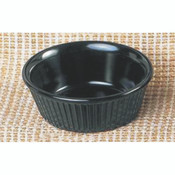 "3 1/2 OZ, 3 3/8"" FLUTED RAMEKIN, BLACK"