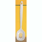 "12"" SLOTTED SPOON, WHITE"