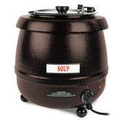 10 1/2 QT STAINLESS SOUP WARMER, BROWN COLOR