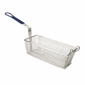 "13 3/8"" X 5 3/4"" X 5 3/4"", RECTANGULAR BASKET, W/ BLUE HANDLE"