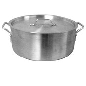 35 QT ALUMINUM BRAZIER POT & LID MIRROR FINISH