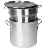 8 QT ALUMINUM HEAVY GAUGE DOUBLE BOILER MIRROR FINISH