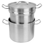 8 QT 18/8 STAINLESS STEEL DOUBLE BOILER (3 PCS SET)