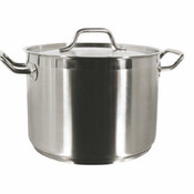 12 QT 18/8 STAINLESS STOCK POT W/ LID