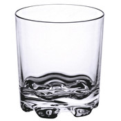 12 OZ ROCK GLASS, HEAVY BASE, STACKABLE, POLYCARBONATE, CLEAR