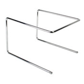 "PIZZA TRAY STAND, CHROME PLATED 9 1/2"" X 9"" X 6 1/2"""