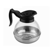 64 OZ POLYCARBONATE COFFEE DECANTERS W/ STAINLESS STEEL BASE