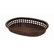 "10 3/4"" OBLONG BASKET, BROWN"