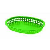 "10 3/4"" OBLONG BASKET, GREEN"
