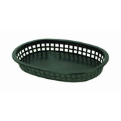 "10 3/4"" OBLONG BASKET, BLACK"
