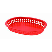 "10 3/4"" OBLONG BASKET, RED"