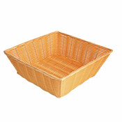 "13"" X 13"" X 4 1/2"" HAND-WOVEN BASKET, SQUARE, PLASTIC"