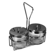 2 HOLES CONDIMENT JAR HOLDER