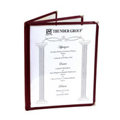 "3 PAGE BOOK FOLD MENU COVER, 8 1/2"" X 11"", MAROON"