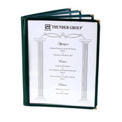 "4 PAGE BOOK FOLD MENU COVER, 8 1/2"" X 11"", GREEN"