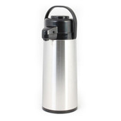2.2 lt/74 OZ Airpot, S/S Body, Glass Lined,  Push Button