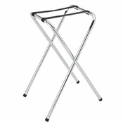 FOLDING TYPE CHROME PLATED TRAY STAND
