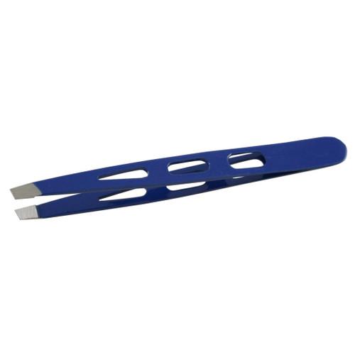 Slant Tip Tweezers Blue Color Standard Model 3H