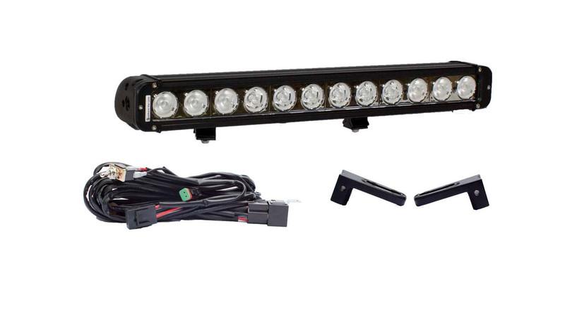 """2500 HD 21"""" LED light bar Hidden Bumper Mount Package"""