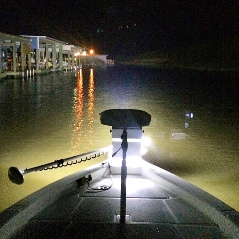 Customer photo sent in and was amazed at how well it lit the whole bayou