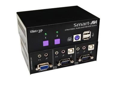 VNET+2P 2-Port Cross-platform VGA KVM by Smart AVI (VNET+2P)
