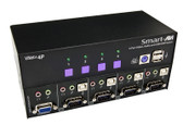 VNET+4P 4-Port Cross-platform VGA KVM by Smart AVI (VNET+4P)