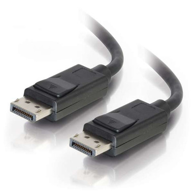 Display Port Cable with Latches Male/Male - Black