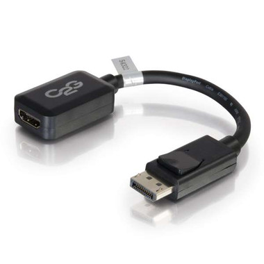 8IN DISPLAYPORT MALE TO HDMI FEMALE ADAPTER CONVERTER - BLACK (54322)