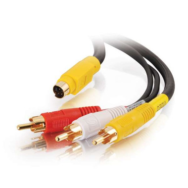 4-in-1 Composite Video/S-Video with RCA Audio Cable