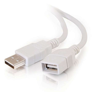 1m USB 2.0 A Male to A Female Extension Cable - White (3.3ft)