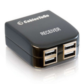4-Port USB 1.1 Over Cat5 Superbooster Extender Dongle Receiver