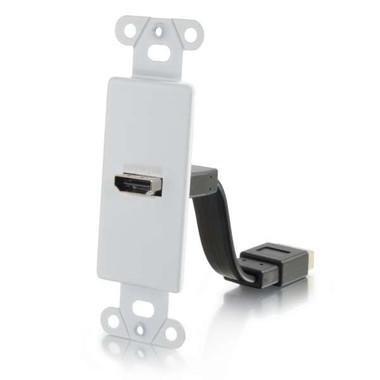 HDMI Pass Thru Decora Style Wall Plate - White
