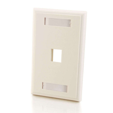 One Keystone Single Gang Wall Plate - White (03410)