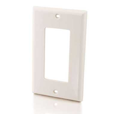 Decorative Single Gang Wall Plate - White (03725)