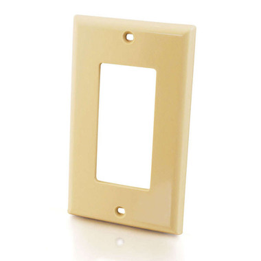 Decorative Single Gang Wall Plate - Ivory (03724)