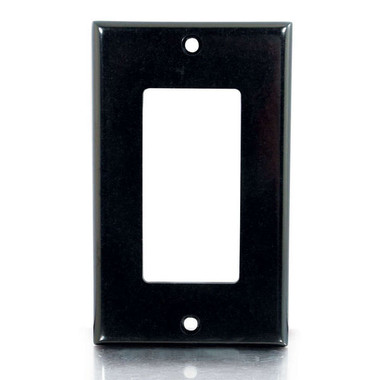 Decorative Single Gang Wall Plate - Black (03730)