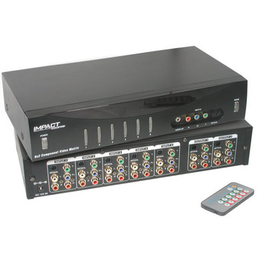 6x2 Component Video +Audio + Digital Audio Matrix Switch (40697)