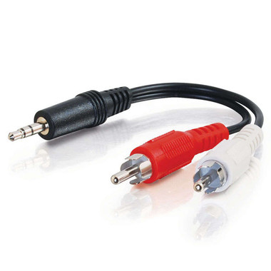 6in 3.5mm Stereo Male To RCA Male Y-Cable (40421)